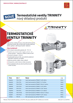 Termostatické ventily TRINNITY